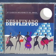 CDs de Musique: DESAFINADO - 37 CLASICOS INOLVIDABLES DEL BRASIL - 2 CD. Lote 209758503