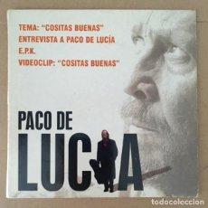 CDs de Música: PACO DE LUCÍA - COSITAS BUENAS - CD PROMOCIONAL CON ENTREVISTA, PISTA INTERACTIVA Y VIDEOCLIP. Lote 209774217