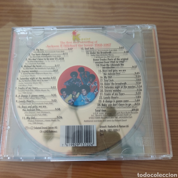 "CDs de Música: Cd - Jackson 5 ""The First Ever Recording Of Jackson 5 (Michael The Lover) - Foto 2 - 209855250"