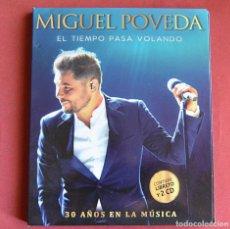 CDs de Música: MIGUEL POVEDA - EL TIEMPO PASA VOLANDO - 2 CD + LIBRETO. Lote 209857141