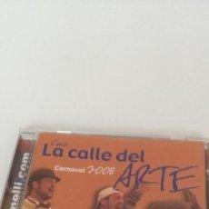 CDs de Música: G-10 CD MUSICA CARNAVAL DE CADIZ CORO 2008 LA CALLE DEL ARTE. Lote 209864125