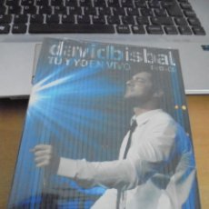 CDs de Música: RAR CD & DVD. DAVID BISBAL. TU Y YO EN VIVO. PRECINTADO. SEALED.. Lote 209888586