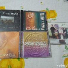 CDs de Música: MÚSICA CELTA ESPAÑA LOTE DE 5 CDS FUXAN OS VENTOS - SETE NETOS - NA LUA-FIA NA ROCA Y CD VARIOS. Lote 209899360