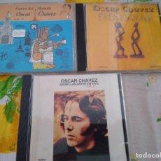 CDs de Música: OSCAR CHAVEZ LOTE 3 CDS BUEN ESTADO IMPORTADOS MÚSICA MÉXICO. Lote 209928160