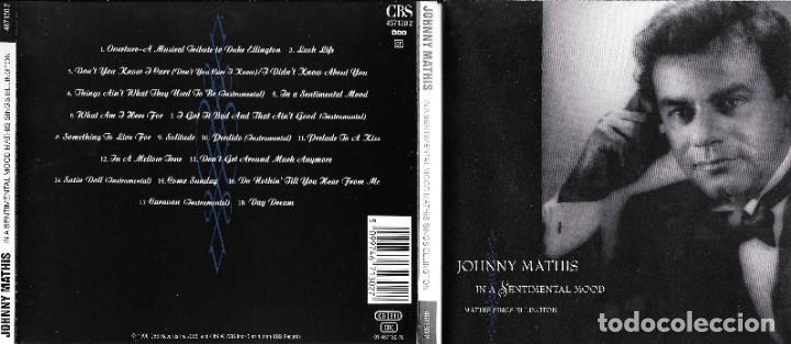 JOHNNY MATHIS - IN A SENTIMENTAL MOOD MATHIS SINGS ELLINGTON (Música - CD's Jazz, Blues, Soul y Gospel)