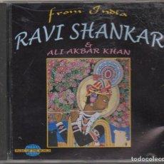 CD de Música: RAVI SHANKAR. FROM INDIA - ER ALI AKBAR KHAN / CD ALBUM DE 1995 / MUY BUEN ESTADO RF-6491. Lote 210030560
