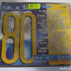 CDs de Música: TRIPLE CD STUDIO 80 LOS MAYORES EXITOS DEL FUNKY DISCO Y TECHNO POP. Lote 210042988