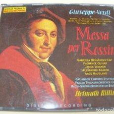 CD de Música: MESSA PER ROSSINI HELMUTH ROLLING 2 CDS SINGLE. Lote 210056258
