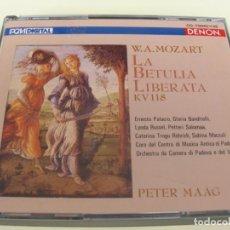 CD de Música: LA BETULIA LIBERATA KV 118 PETER MAAG 2CDS + LIBRETTO. Lote 210091471