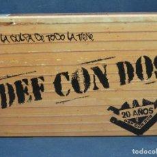 CDs de Música: DEF CON DOS – LA CULPA DE TODO LA TIENE DEF CON DOS - 2 CD+ LIBRO. Lote 210099677