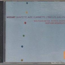 CDs de Música: MOZART - QUINTETTE AVEC CLARINETTE - TRIO LES QUILLES / CD ALBUM DEL 2006 / MUY BUEN ESTADO RF-6522. Lote 210121267
