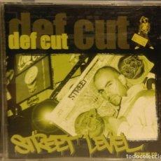 CDs de Música: CD DEF CUT : STREET LEVEL REMIXES (ELEKTRO HIP HOP) DEF CUT RAREST CD. Lote 210124973