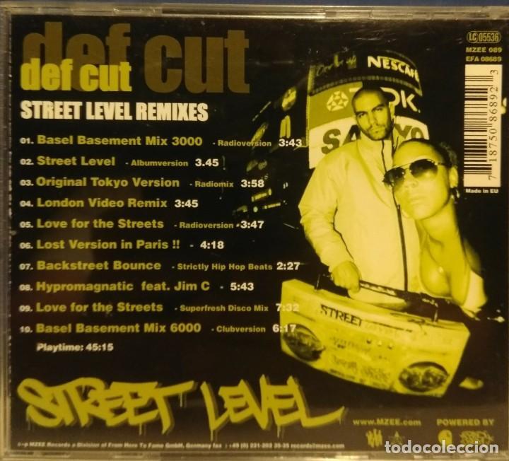 CDs de Música: CD DEF CUT : STREET LEVEL REMIXES (ELEKTRO HIP HOP) DEF CUT RAREST CD - Foto 2 - 210124973