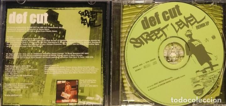 CDs de Música: CD DEF CUT : STREET LEVEL REMIXES (ELEKTRO HIP HOP) DEF CUT RAREST CD - Foto 3 - 210124973