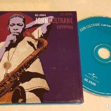 CDs de Música: JOHN COLTRANE / ESPÌRITUAL / ESTRELLAS DEL JAZZ 10 / EL PAIS / LIBRETO 60 PÁGINAS / LUJO. Lote 210184891