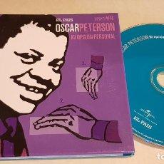 CDs de Música: OSCAR PETTERSON / MI OPCIÓN PERSONAL / ESTRELLAS DEL JAZZ 19 / EL PAIS / LIBRETO 60 PÁGINAS / LUJO. Lote 210185283