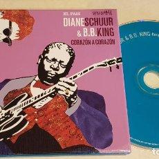 CDs de Música: DIANE SCHURR & B.B.KING / CORAZON A CORAZON / ESTRELLAS DEL JAZZ 13 / EL PAIS / LIB. 60 PÁG./ LUJO. Lote 210185956