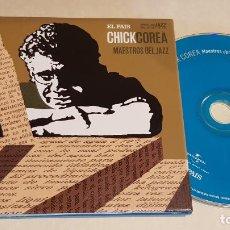 CDs de Música: CHICK COREA / MAESTROS DEL JAZZ / ESTRELLAS DEL JAZZ 15 / EL PAIS / LIB. 60 PÁG./ LUJO. Lote 210186742