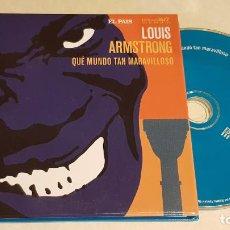 CDs de Música: LOUIS ARMSTRONG / ESTRELLAS DEL JAZZ 33 / EL PAIS / LIB. 60 PÁG./ LUJO. Lote 210188106