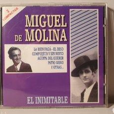 CDs de Música: DOBLE CD/ MIGUEL DE MOLINA/ EL INIMITABLE/ EDIT. POR NOVOSON, AÑO 2000/ (REF.A). Lote 210254422