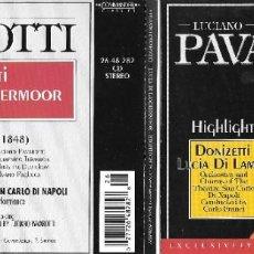 CDs de Música: LUCIANO PAVAROTTI - LUCIA DI LAMMERMOOR. Lote 210255948