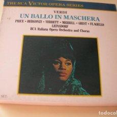 CD de Música: UN BALLO IN MASCHERAERICH LEINSDORF 2 CDS + LIBRETTO. Lote 210283521