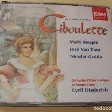 CD de Música: CIBOULETTE CYRIL DIEDERICH 2CDS + LIBRETTO. Lote 210284815