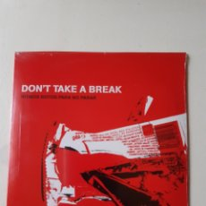CDs de Música: CD DANCE DE LUX. DON'T TAKE A BREAK. 1999. Lote 210334118