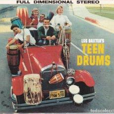CDs de Música: LES BAXTER - TEEN DRUMS + YOUNG POPS - CD DIGIPACK. Lote 210370027