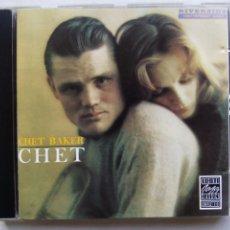 CDs de Música: CHET BAKER. CHET. CD RIVERSIDE OJCCD-087-2. GERMANY 1987.. Lote 210400551