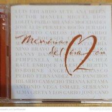 CDs de Música: MEMORIAS DEL CORAZON - 2 CD'S 2001 (AUTE, MOCEDADES, PERALES, PIMPINELA, NINO BRAVO, JUAN PARDO..). Lote 210401481