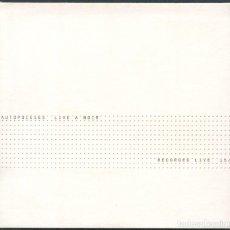 CDs de Música: AUTOPOIESES – LIVE A NOIR – CD. Lote 210423497