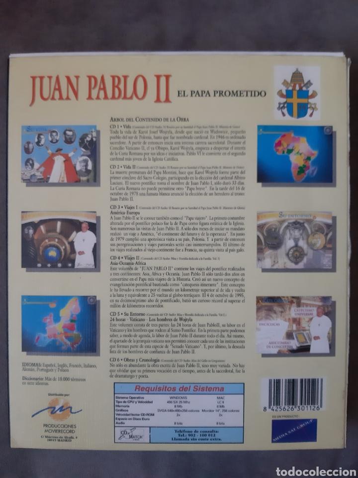 CDs de Música: CD AUDIO+CD ROM JUAN PABLO II ( El Papa Prometido), contiene la voz del.Papa rezando el Rosario - Foto 2 - 210479060