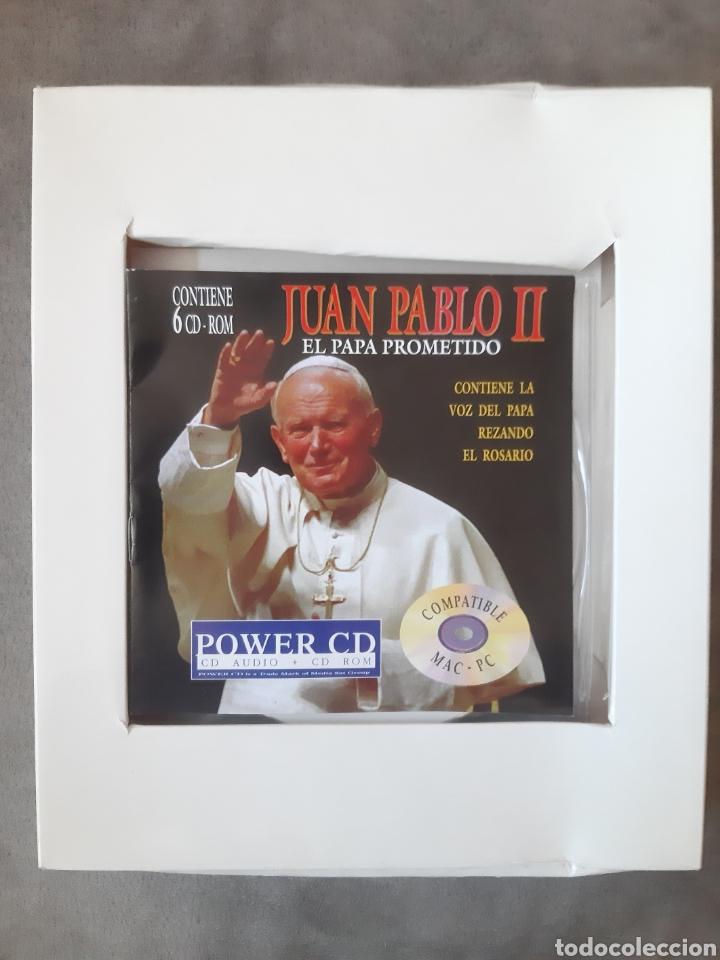 CDs de Música: CD AUDIO+CD ROM JUAN PABLO II ( El Papa Prometido), contiene la voz del.Papa rezando el Rosario - Foto 4 - 210479060