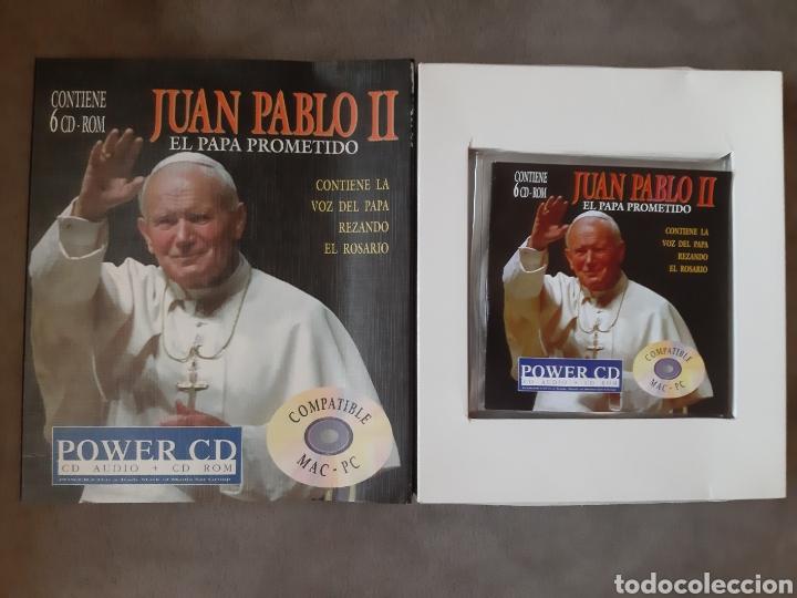 CDs de Música: CD AUDIO+CD ROM JUAN PABLO II ( El Papa Prometido), contiene la voz del.Papa rezando el Rosario - Foto 11 - 210479060