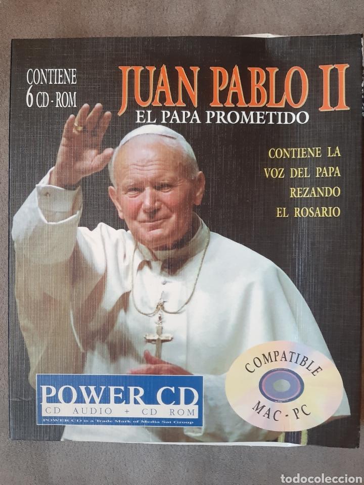 CD AUDIO+CD ROM JUAN PABLO II ( EL PAPA PROMETIDO), CONTIENE LA VOZ DEL.PAPA REZANDO EL ROSARIO (Música - CD's Otros Estilos)