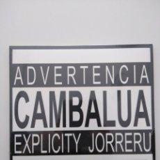 CDs de Música: CD EXPLICITY JORRERU DE CAMBALUA. FOLK/SKA CANTABRIA 2013. Lote 243096310