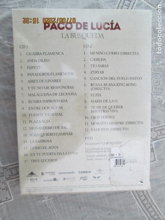 CDs de Música: PACO DE LUCIA , LA BUSQUEDA - 2 CD &DVD PRECINTADO - DOCUMENTAL CURRO SANCHEZ - Foto 4 - 210581056