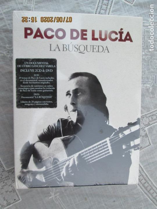 PACO DE LUCIA , LA BUSQUEDA - 2 CD &DVD PRECINTADO - DOCUMENTAL CURRO SANCHEZ (Música - CD's Flamenco, Canción española y Cuplé)