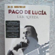 CDs de Música: PACO DE LUCIA , LA BUSQUEDA - 2 CD &DVD PRECINTADO - DOCUMENTAL CURRO SANCHEZ. Lote 210581056