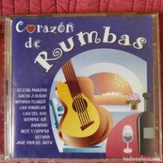 CDs de Música: CORAZÓN DE RUMBAS- DOBLE CD. CON: KETAMA, LA PLATA, DAKOKI, EL MANI, LA TROPA, AZUCAR MORENO.... Lote 210584952