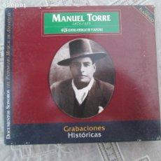CDs de Música: MANUEL TORRE - 1878-1933 - GRABACIONES HISTORICAS -2 CD,S+ LIBRETO. Lote 210592237