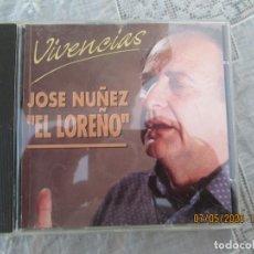 CDs de Música: JOSE NUÑEZ EL LOREÑO - VIVENCIAS CD FLAMENCO -1997. Lote 210592678