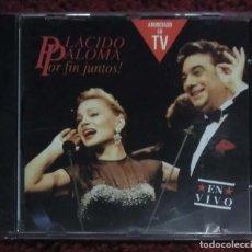 CDs de Música: PLACIDO DOMINGO Y PALOMA SAN BASILIO (POR FIN JUNTOS! - EN VIVO) CD 1991. Lote 210598385