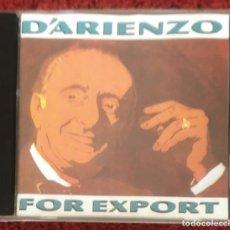 CDs de Música: JUAN D'ARIENZO Y SU ORQUESTA TIPICA (FOR EXPORT) CD 1990 ARGENTINA * DIFICIL EN CD. Lote 210602218