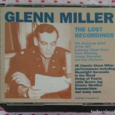 CDs de Música: GLENN MILLER (THE LOST RECORDINGS) 2 CD'S 1996. Lote 210602655