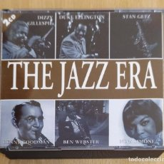 CDs de Música: THE JAZZ ERA - 2 CD'S 1996 (DUKE ELLINGTON, NINA SIMONE, BENNY GOODMAN, DIZZY GILLESPIE, STAN GETZ.). Lote 210602795