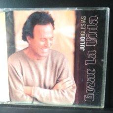 CDs de Música: JULIO IGLESIAS - GOZAR LA VIDA - CD / PABLO FLORES CLUB RADIO+EXTENDED+ESTEFANO DANCE REMIX PEPETO. Lote 210610710