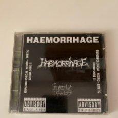 "CDs de Música: HAEMORRHAGE ""EMETIC CULT"" CD. Lote 210637299"