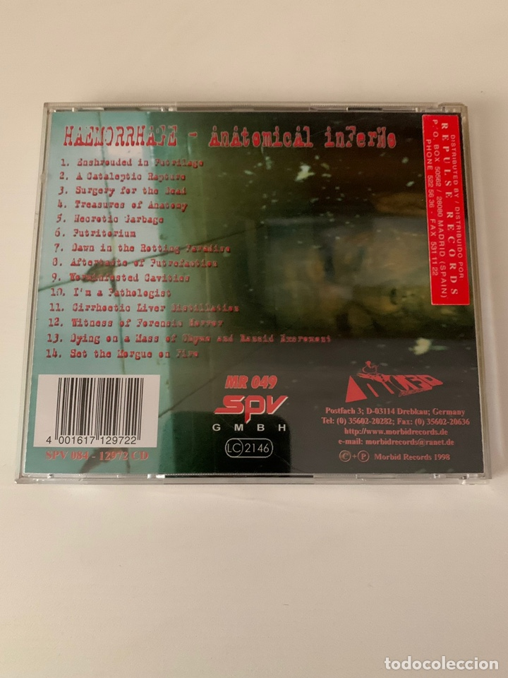 "CDs de Música: HAEMORRHAGE"" Anatomical Inferno "" cd - Foto 2 - 210637668"